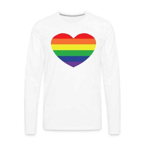 Rainbow heart - Men's Premium Longsleeve Shirt