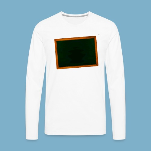 Schul Tafel - Männer Premium Langarmshirt