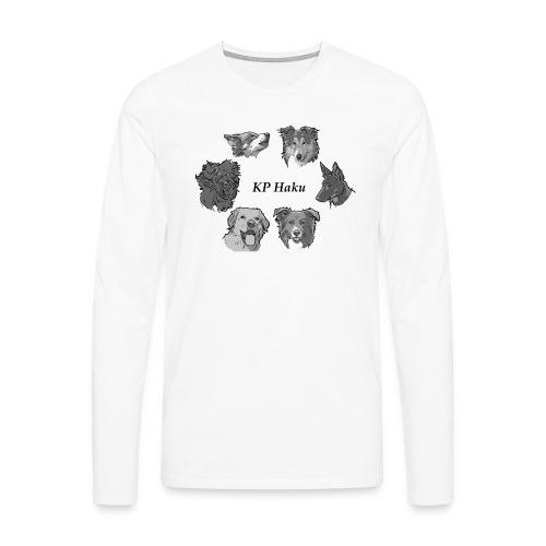 Tintti - Miesten premium pitkähihainen t-paita
