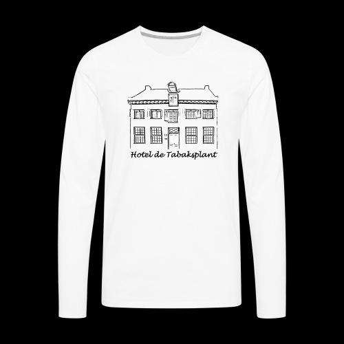 Hotel de Tabaksplant (zwart) - Mannen Premium shirt met lange mouwen