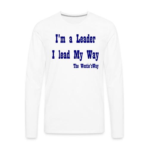 I lead My Way Blue - Koszulka męska Premium z długim rękawem