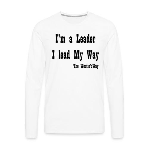 I lead My Way Black - Koszulka męska Premium z długim rękawem