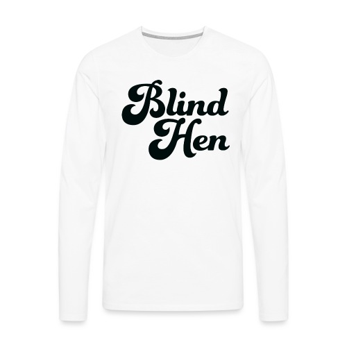 Blind Hen - Logo Lady fit premium, blue - Men's Premium Longsleeve Shirt