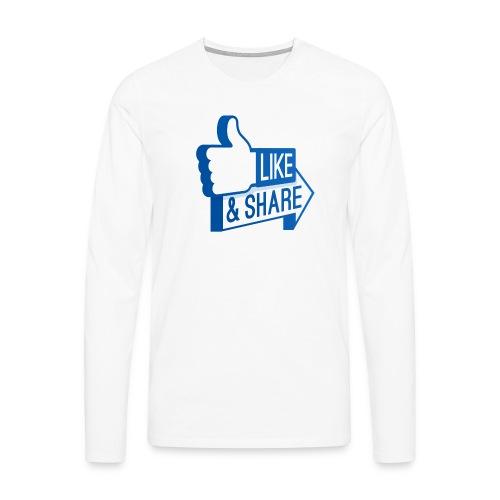 Like & Share (Facebook) - Maglietta Premium a manica lunga da uomo