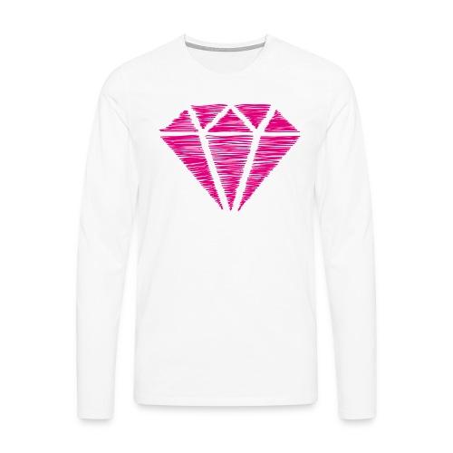 Diamante rosa - Camiseta de manga larga premium hombre