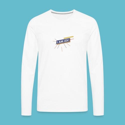 I AM LEV Banner - Mannen Premium shirt met lange mouwen