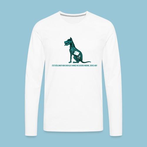T-shirt pour homme imprimé Chien au Rayon-X - T-shirt manches longues Premium Homme