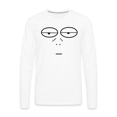 Volto Lenzuolo - Maglietta Premium a manica lunga da uomo