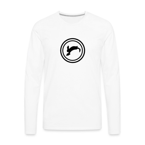 Bunny_Black2 - Herre premium T-shirt med lange ærmer