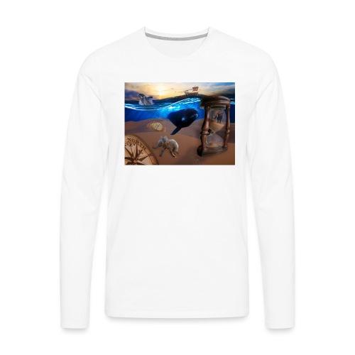 Wodne Przemyślenia - Koszulka męska Premium z długim rękawem
