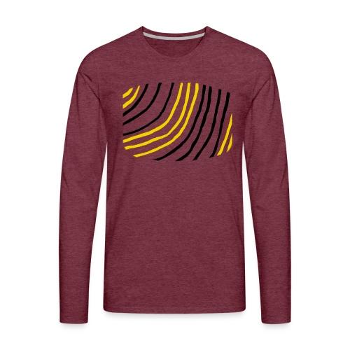 Raidat - Miesten premium pitkähihainen t-paita