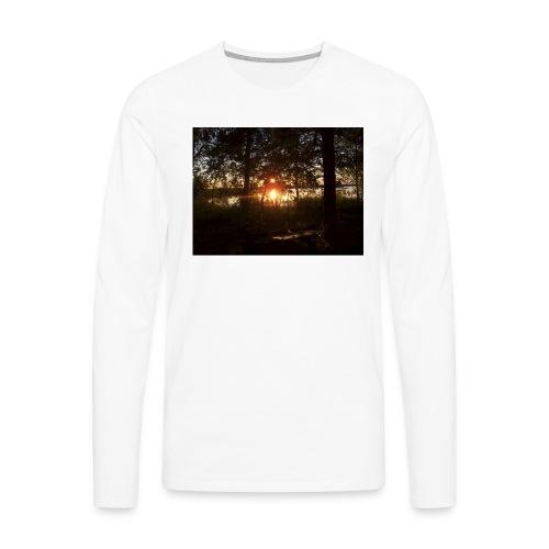 Ilta Koitereella - Miesten premium pitkähihainen t-paita