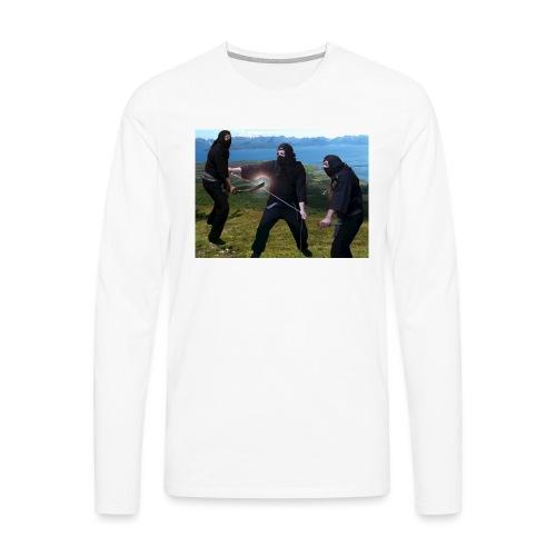 Chasvag ninja - Premium langermet T-skjorte for menn