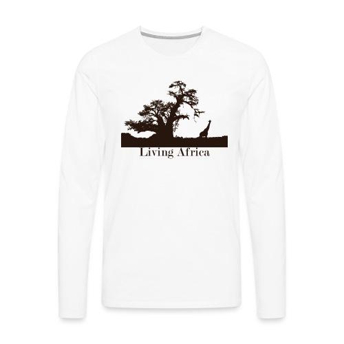 Ultimate_Living_Africa-png - Maglietta Premium a manica lunga da uomo