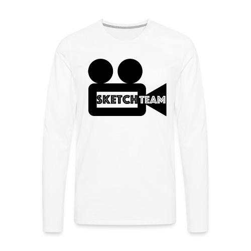 SketchTeam Logga T-shirt - Långärmad premium-T-shirt herr