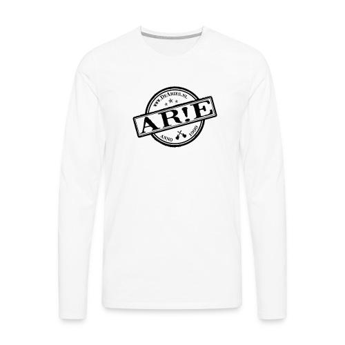 Backdrop AR E stempel zwart gif - Mannen Premium shirt met lange mouwen