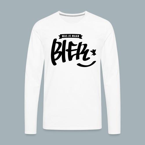 Bier Premium T-shirt - Mannen Premium shirt met lange mouwen