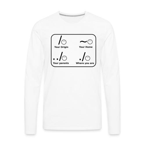 (slash_spreadshirt) - Männer Premium Langarmshirt