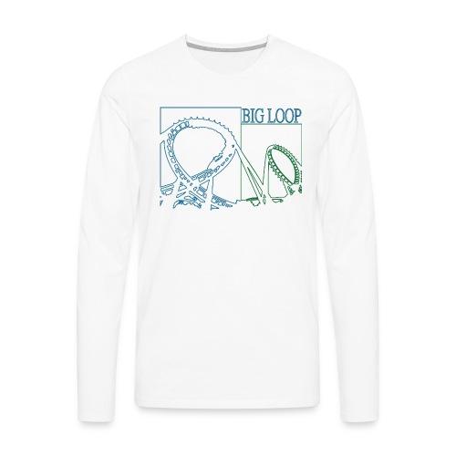 big_loop_coaster_shirt_line - Männer Premium Langarmshirt