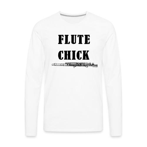 Flute Chick - Premium langermet T-skjorte for menn