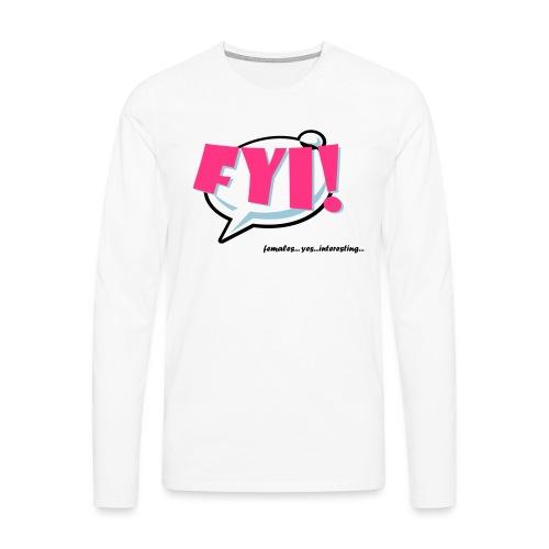 FYI.ai - Miesten premium pitkähihainen t-paita