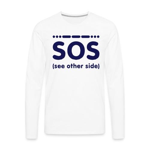 SOS - Mannen Premium shirt met lange mouwen