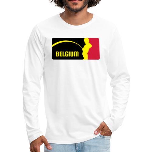 Mannekke Pis, Belgium Rode duivels - Belgium - Bel - T-shirt manches longues Premium Homme