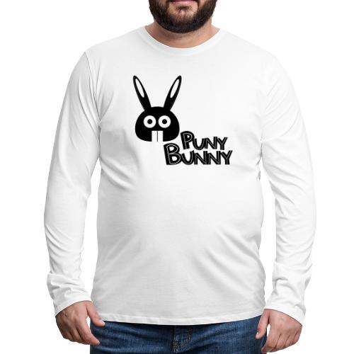 Puny Bunny text - Miesten premium pitkähihainen t-paita
