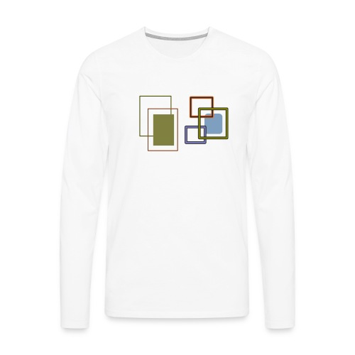 Quadratisch - Männer Premium Langarmshirt