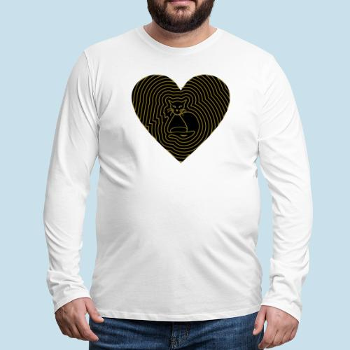 Katzenliebe - Männer Premium Langarmshirt