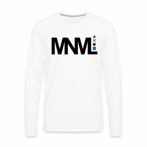 MNML Schrift Symbole Logo minimalistisch Text Icon - Männer Premium Langarmshirt