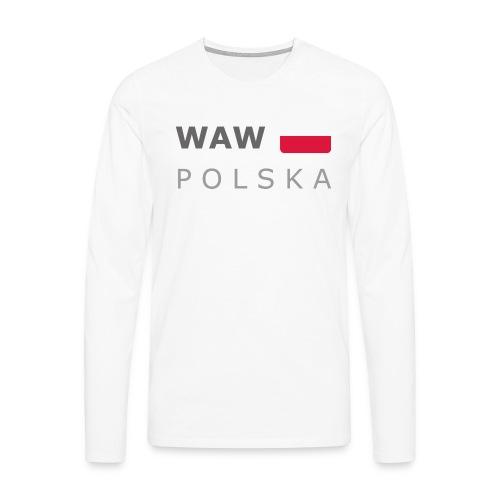 WAW POLSKA dark-lettered 400 dpi - Men's Premium Longsleeve Shirt