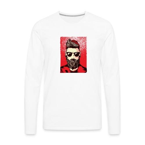 HipsterMan - Männer Premium Langarmshirt