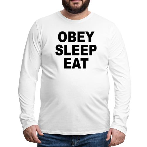obey sleep - T-shirt manches longues Premium Homme