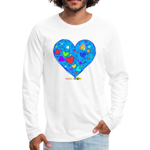 Herzenspapa - Männer Premium Langarmshirt