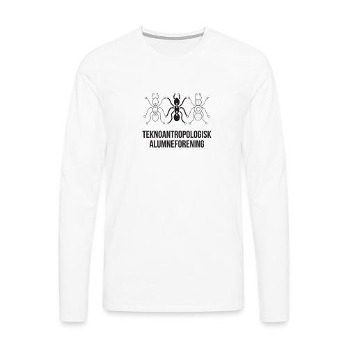 Teknoantropologisk Støtte T-shirt figur syet - Herre premium T-shirt med lange ærmer