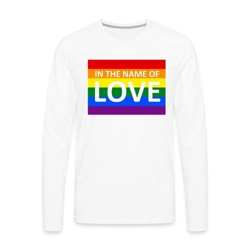 IN THE NAME OF LOVE RETRO T-SHIRT - Herre premium T-shirt med lange ærmer
