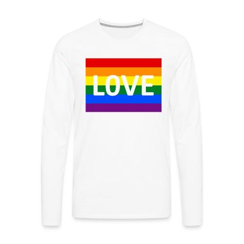 LOVE SHIRT - Herre premium T-shirt med lange ærmer