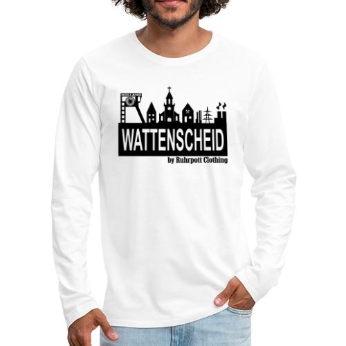 Wattenscheider Skyline by Ruhrpott Clothing - Männer Premium Langarmshirt