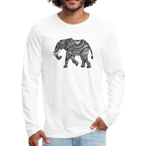 Elefant, gemustert - Männer Premium Langarmshirt