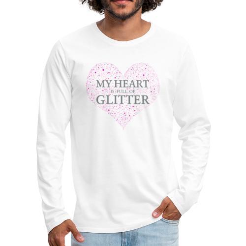 Glitzer Herz - Männer Premium Langarmshirt