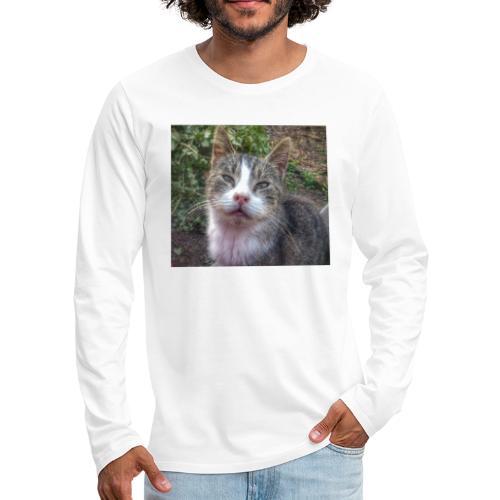 Katze Max - Männer Premium Langarmshirt