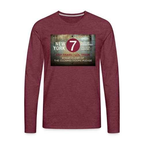 NYC subway stand clear of the closing doors please - Men's Premium Longsleeve Shirt