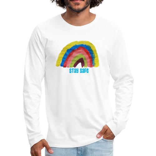 Stay Safe Rainbow Tshirt - Men's Premium Longsleeve Shirt