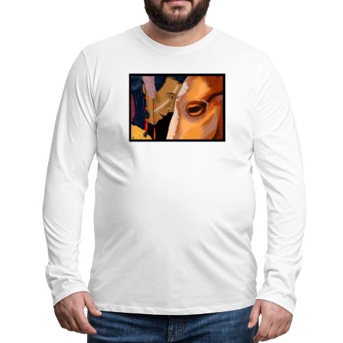 Man and Horse - Mannen Premium shirt met lange mouwen