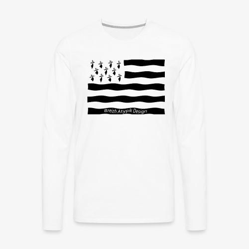 Gwenn ha Du-Noir fond transparent - T-shirt manches longues Premium Homme