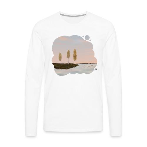Automne en Laponie - T-shirt manches longues Premium Homme