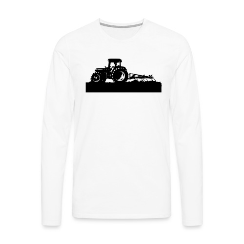 Tractor with cultivator - Men's Premium Longsleeve Shirt