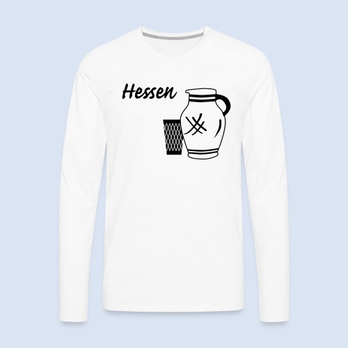 Hessen Bembel Geripptes - Männer Premium Langarmshirt