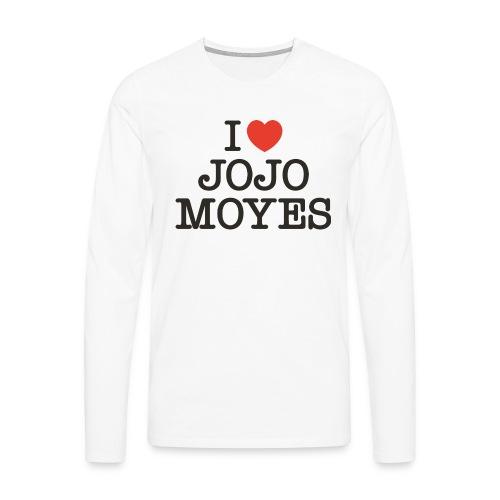 I LOVE JOJO MOYES - Herre premium T-shirt med lange ærmer